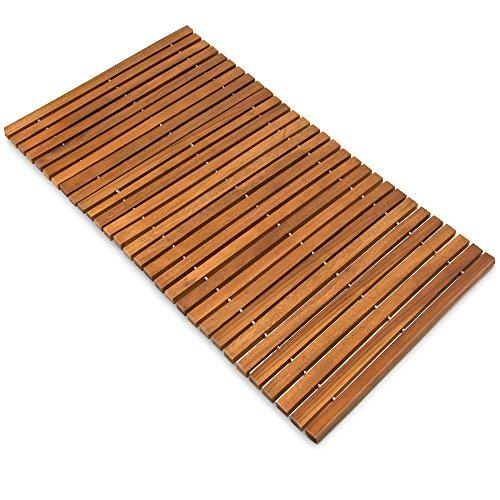 Alfombra de baño de madera de acacia pre-aceitada anti-deslizante - Medidas: 80...