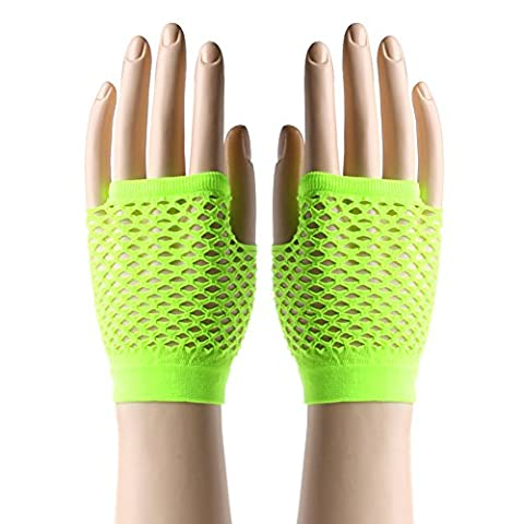 The Cheers Beauty Women Fingerless Mesh Warmer Gloves With Sexy Lace Fishnet For Dance Costume Party