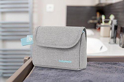 Babymoov Baby-Kulturtasche – Pflege-Set, für Babys 6-teilig, mit digitalem Fieberthermometer, grau-türkis