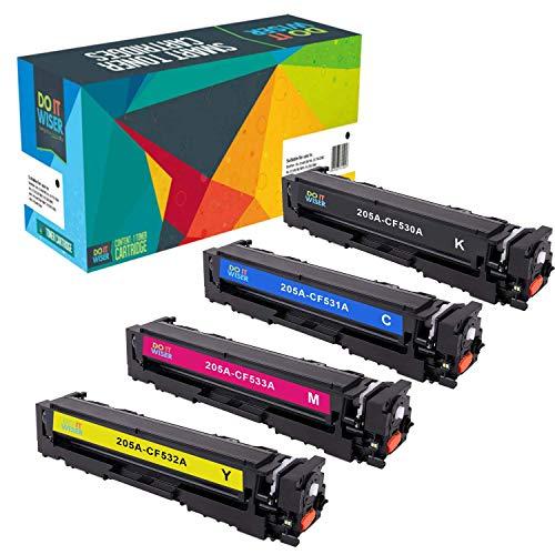 Do it Wiser CF530A 205A Cartuchos de Toner Compatibles con HP Color Laserjet Pro MFP M180n | MFP M181fw | MFP M180 | MFP M180nw | MFP M154a | CF530A, CF531A, CF532A, CF533A (4 Pack)