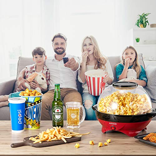 Aicook – Popcornmaschine – mit Heizplatte - 8