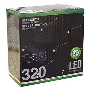 Atlantis Elektronik Lichterkette Lichternetz mit 320 LEDs warmweiß / 300x150cm / Innen & Außen