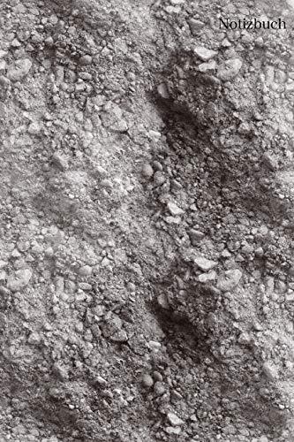 Notizbuch: Notizbuch Sand, Mondlandschaft, Tagebuch, Bulletjournal mit Soft Cover mit 100 cremefarben Seiten Punktraster, DinA5, 6x9 Achtsamkeit, Urlaub, Erinnerungen -