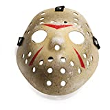 Máscara para disfraz de Halloween, diseño de hockey (niño, MC475 máscara de Jason amarillo)