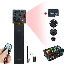 WISEUP 8GB 1920x1080P HD Mini Indossabile Microcamere Spia Fai Da Te Vestiti Pulsante Movimento Attivato Video Videocamera con Uscita TV AVI Formato