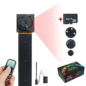 WISEUP 8GB 1920x1080P HD Mini Versteckt Kamera Taste Zuhause Spion Überwachungskamera mit Bewegungsmelder und Aufzeichnung