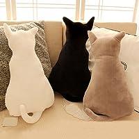 Homeofying Cute Cat Soft Plush Back Shadow Toy Sofa Pillow Seat Cushion Birthday Gift For Boys or Girls Room Grey 45 cm