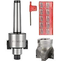 Festnight Précision des métaux CNC Machine-outil MT2-FMB22 M10 Fraise à queue Arbor 10PCS Carbure Inserts outil de…