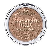 Essence luminous matt bronzing powder for dark skin Nr. 02 sunglow Inhalt: 9g Bronzing Powder für etwas Sonne im Gesicht.