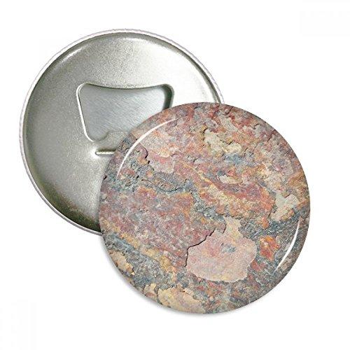 Rusty Rauen Eisen Textur Rost Rund Flaschenöffner Kühlschrank Magnet Pins Badge Button Geschenk 3 (Rusty-pin)