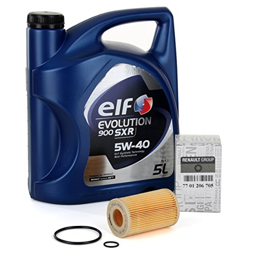 Duo Kit Servizio cambio olio - Elf Evolution SXR 5W-40, 5 litri + Filtro Original 7701206705