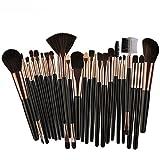 Makeup Kosmetik Pinsel Xinan 25PC Cosmetic Blusher Lidschatten Pinsel Set Kit Bürste Kontur Pinsel Tool (❤️, Schwarz)