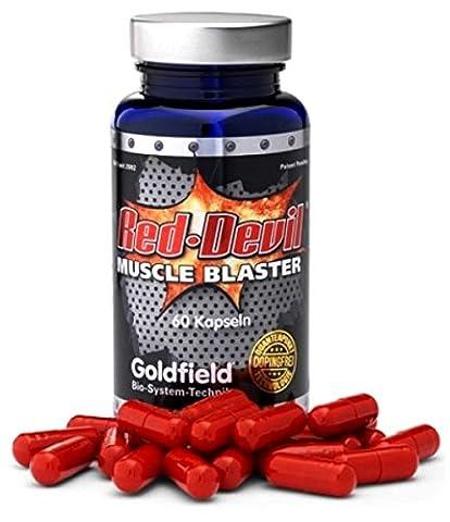 Goldfield Red Devil Muskelaufbau Muskelblaster - Muskel Trainings-Booster 60 Kapseln mit Maca , Tribulus , Guarana ,