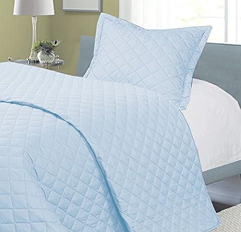 joysleep Love2Sleep Spannbetttuch für Kinderbett, ägyptische Baumwolle Tagesdecke/Bettdecke 2,5Tog/Überwurf/Decke–Sky
