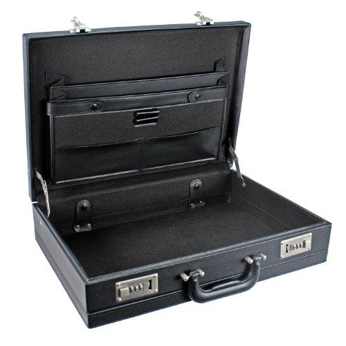 D&N Tradition Business Aktenkoffer PU 44 cm erw. schwarz