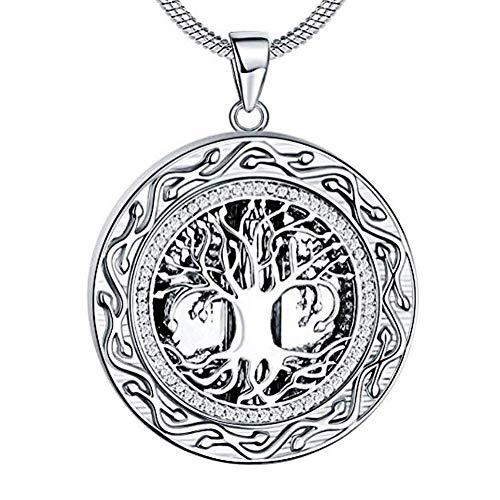 Urnenschmuck für Asche Baum des Lebens Halskette für Asche Medaillon Anhänger mit Trichter-Set 3cm*3cm Stainlesssteel -