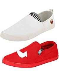 Maddy Men's Mesh Combo Pack Of 2 Loafer and Moccasin