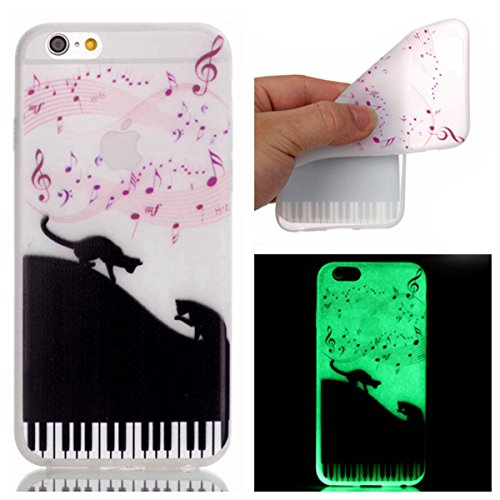 "iPhone 6s Plus Luminous Coque, MOONCASE iPhone 6 Plus Etui Noctilucent Back Coque Thin Fit TPU Housse Cover Case pour iPhone 6 Plus(2014) / 6s Plus(2015) 5.5"" - YT09 Série Moonlight - YT02"
