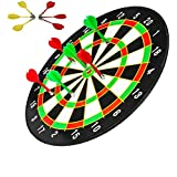 Famous Quality Classic Score Dartboard Kit - 6 Soft Darts,Family Fun Games,Birthday/Christmas Gifts For Children Adults (18 Inch)