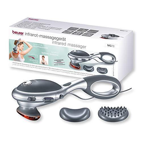 Appareil de massage à infrarouge MG 70 de Beurer | Masseur électrique parfait pour le dos, la nuque et les jambes | Massage par tapotement relaxant et agissant en profondeur