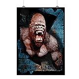 Sauvage Animal Gorille Bête Animal Puissance Matte/Glacé Affiche A2 (60cm x 42cm)   Wellcoda