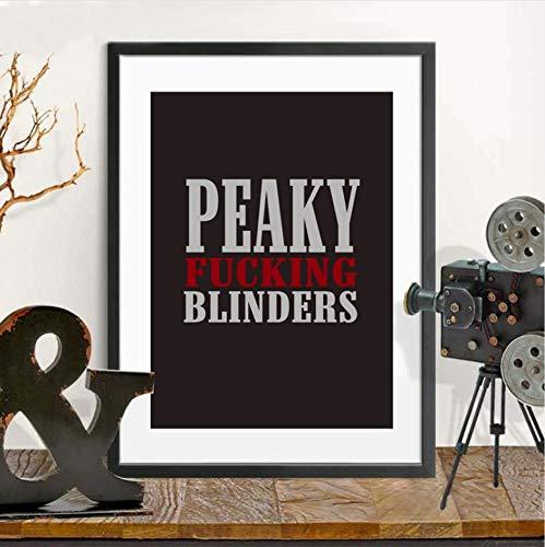 Britische TV Serie Peaky Blinders Zitat Poster und Drucke Wandkunst Leinwand Malerei Wandbilder 40x50cm (Britischen Tv)