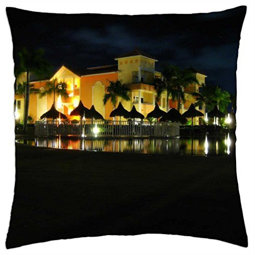 bahia-principe-punta-cana-by-night-throw-pillow-cover-case-18-x-18