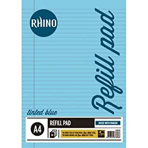 RHINO A4 Special Tinted Paper Education Refill Pad - Blue