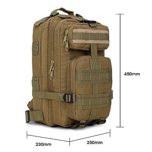 wasserdicht maltifunktionale große Kapazität Bergsteigen Tasche(30L) Wanderrücksack für Zelten, Wandern, Bergsteigen, Biking, Entdeckungsreise, 45cm*25cm*23cm(H*L*W) C