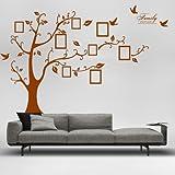 """Enorme """"famiglia"""" cornice di memoria albero ramo vinile PVC rimovibile soggiorno camera da letto camera bambino baby memorie muro adesivo"""
