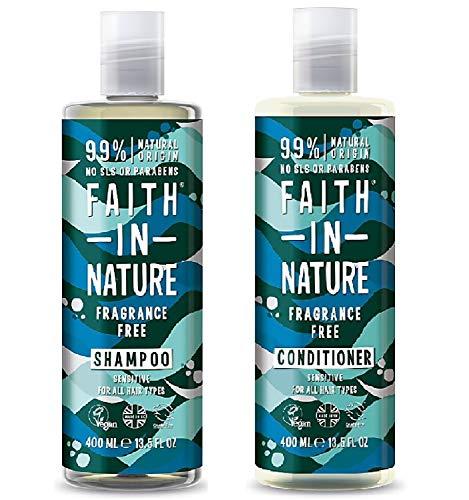 Faith In Nature Fragrance Free Shampoo 400ml & Conditioner 400ml Duo - Fragrance Free Shampoo Conditioner