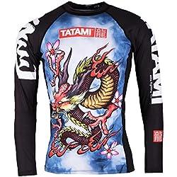 Tatami Fightwear Dragon Rash Guard - Camiseta para Hombre, Dragón, Hombre, Color, tamaño 2 X-Grande