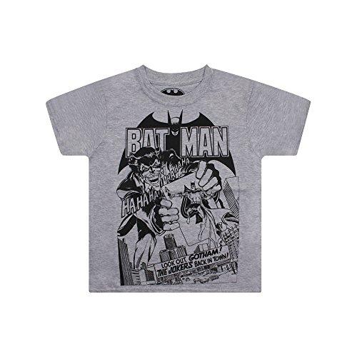 DC Comics Jungen Back In Town T-Shirt, Grau (Grey Heather), XXL -