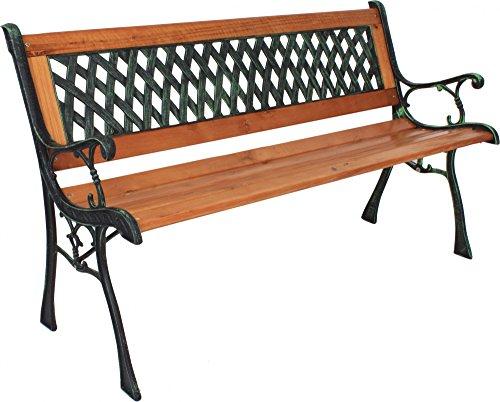 3-Sitzer Gartenbank mit PVC Rückenfläche