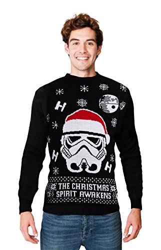 HSA Ltd Weihnachtspullover für Herren und Damen, Unisex, Größen S/M/L/XL/2XL/3XL/4XL Gr. X-Large, Star Wars Storm Trooper
