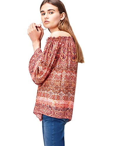 FIND 24792 camisetas mujer fiesta,, Multicolor (Orange Mix), 44 (Talla del Fabricante: X-Large)