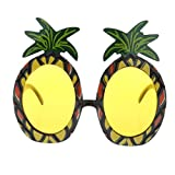 TRIXES Tropical Pineapple Shaped Sunglasses - Eyewear for Fancy Dress or Costume Parties