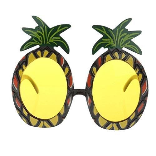 Skurrile Kostüm - Trixes Tropical Ananas Sonnenbrille für Kostümpartys und Karneval - Kostüme für Erwachsene