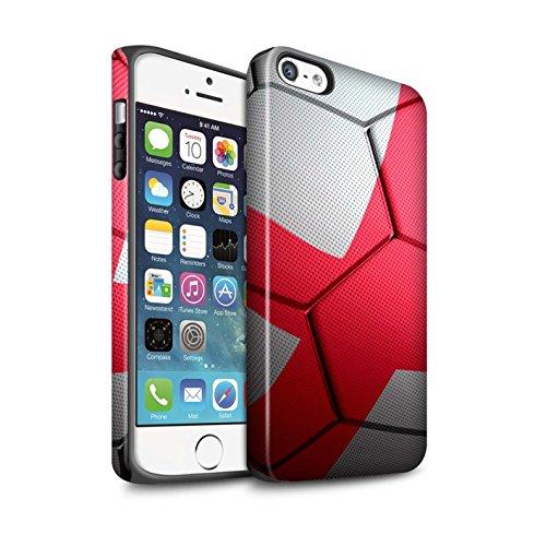 STUFF4 Matte Harten Stoßfest Hülle / Case für Apple iPhone 6+/Plus 5.5 / Frankreich Muster / Fußball Nationen Kollektion England/Englische