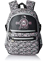 Hello Kitty Nylon 43 cms Grey and Black Children's Backpack (Age group :6-8 yrs)