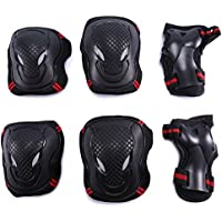 Selighting Protective Gear Set - 6 in 1 Adults Teens Kids Knee Elbow Pads Wrist Guards for Skateboarding Riding Cycling Scooter Rollerblading Roller Skating