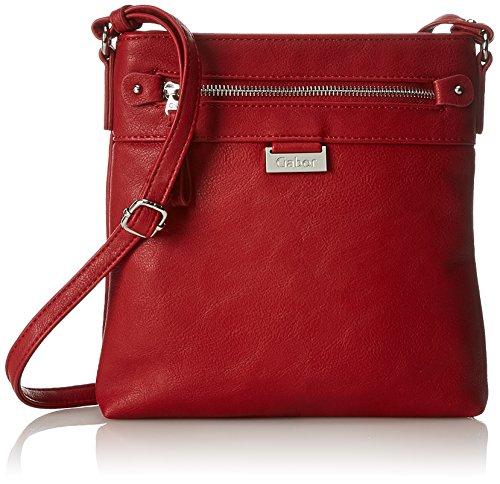 Gabor Umhängetasche Damen Ina, Rot (Rot), 3x22x23 cm, Gabor Handtasche Damen