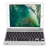 VBESTLIFE Bluetooth 3.0 Tastatur mit Hülle,34H Arbeit Auto Schlaf Wireless Tastatur für iPad Pro 9.7 / Air2(Silber)
