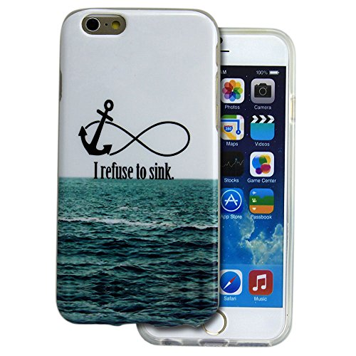 Apple iPhone 6 Plus HQ TPU SILICON REFUSE TO SINK design case coque housse smartphone bumper Flip bag Cover smartphone protection thematys® Refuse to sink