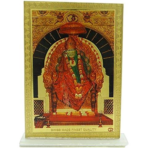 Tablero de instrumentos Hoja de cristal de plástico Señor religioso Sai Baba del coche del capítulo de los regalos Decor