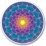 Mandala Arts S33 - Adhesivo decorativo para ventana(11,4 cm, doble cara), diseño de Central Sun de Bryon Allen