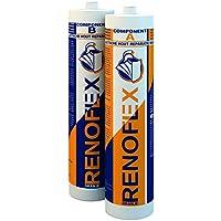 RENOFLEX ORANGE 600 ml | Standfeste Premium Holzersatzmasse. Reparatur sämtlicher Holzschäden innen und aussen..
