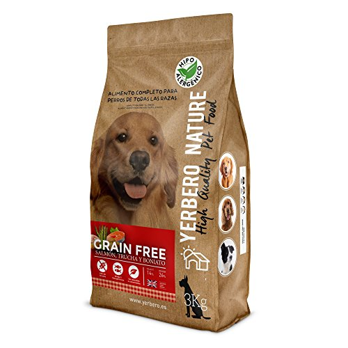 Yerbero NATURE GRAIN FREE comida para perros SIN cereales salmon/trucha 3kg