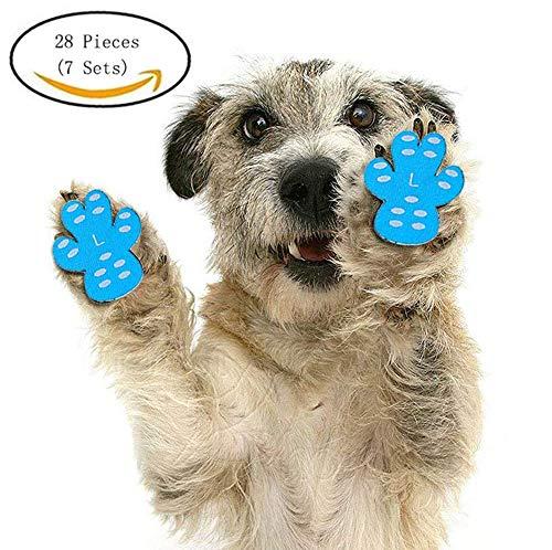 Hundepfotenschutz für Hunde, verhindert Das Verrutschen auf harten Böden - Gehhilfe für Ihren Seniorenhund, 7 Sets für 4 Pfoten, XXL-2.5