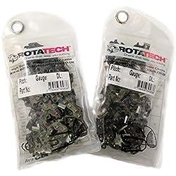 Rotatech Lot de 2 chaînes de tronçonneuse professionnelle STIHL MS250, 45,72cm, 22LPX068E